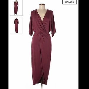 ASTR The Label Burgundy Dress Size Medium